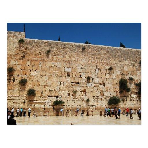 Western Wall, Jerusalem post card