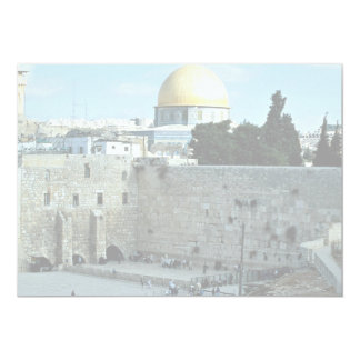 Western wall with Dome of the Rock, Jerusalem, Isr Personalized Invite