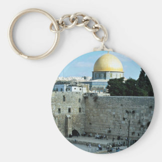 Western wall with Dome of the Rock, Jerusalem, Isr Keychain