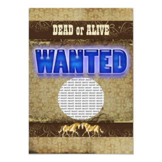 Western wanted dead alive PHOTO insert Custom Announcement