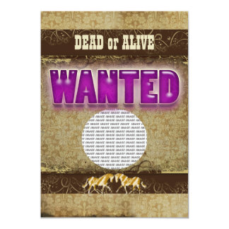 Western wanted ranch PHOTO insert Personalized Announcements