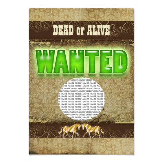 Western wanted ranch PHOTO insert Personalized Invitations