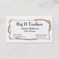 Western Wanted Sign Style Business Cards