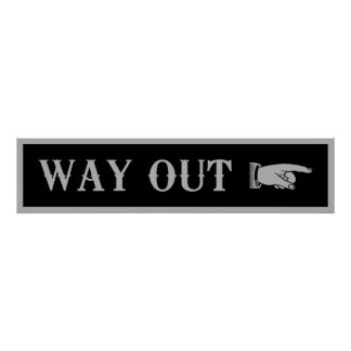 Western WAY OUT Sign