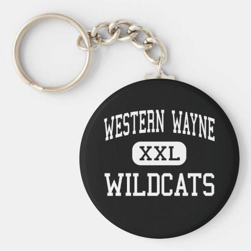 Western Wayne - Wildcats - High - Lake Ariel Keychains