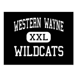 Western Wayne - Wildcats - High - Lake Ariel Postcard