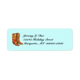 Western Wear Cowboy Cowgirl Boots Address Labels