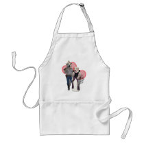 Western Wearin' Dog Couple Adult Apron