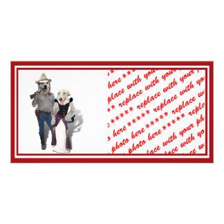 Western Wearin' Dog Couple Card