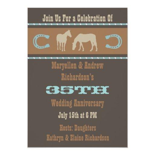 Western Wedding Anniversary Party Invitation Zazzle