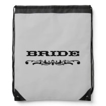 Western Wedding | Bride Drawstring Backpack