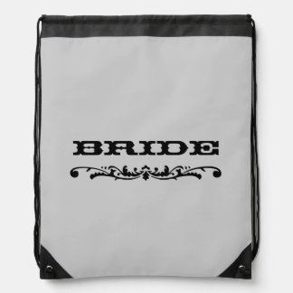 Western Wedding   Bride Drawstring Backpack