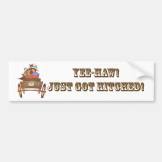 Western Wedding design Bumper Sticker
