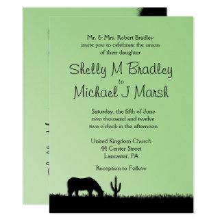 Western Wedding Green Wedding Card