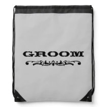 Western Wedding | Groom Drawstring Bag