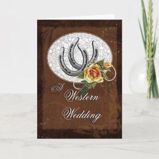 Western Wedding Invitation card