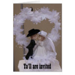 Western Wedding Invitation Greeting Card