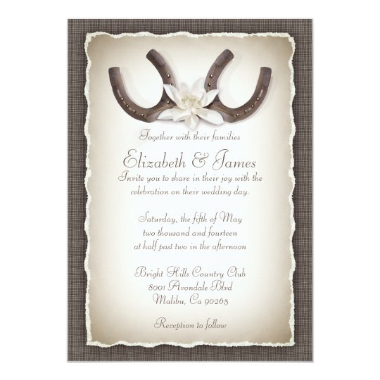 Western Wedding Invitations Zazzle Com