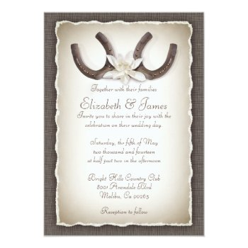 Western Wedding Invitations Card