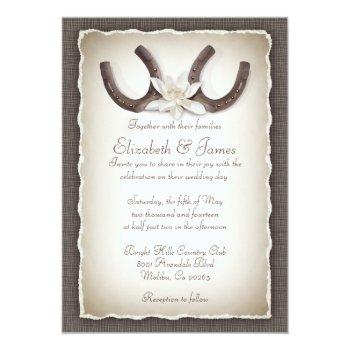 Western Wedding Invitations Card