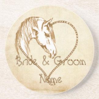 Western Wedding Party Coasters Wedding Reception