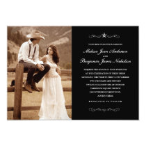 Western Wedding Photo Invitations