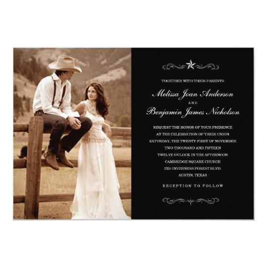 Western Wedding Invitations: Western Wedding Photo Invitations