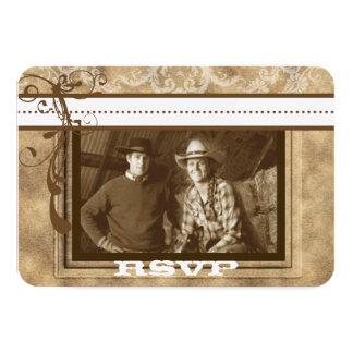 Western Wedding PHOTO RSVP Card