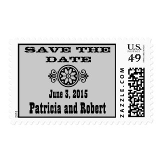Western Wedding | Save the Date Stamps