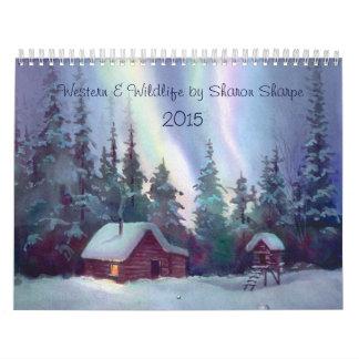 WESTERN & WILDLIFE SCENES 2015 by SHARON SHARPE Wall Calendar