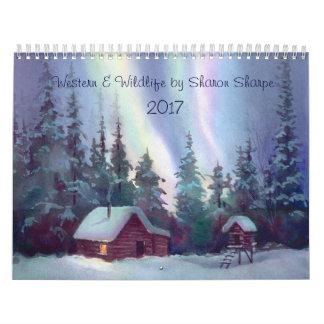 WESTERN & WILDLIFE SCENES 2016 by SHARON SHARPE Calendar