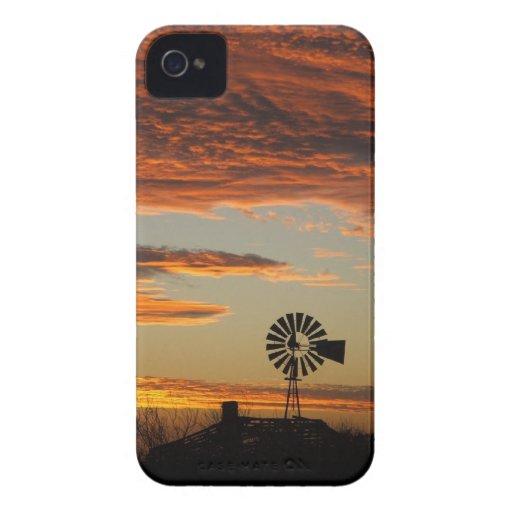 Western Windmill Sunset iPhone 4 Case-Mate Case