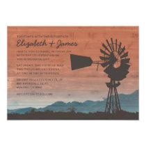 Western Windmill Wedding Invitations Invitation