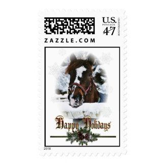 Western Winter Holiday postage stamps
