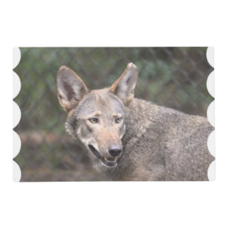 Western Wolf Laminated Place Mat
