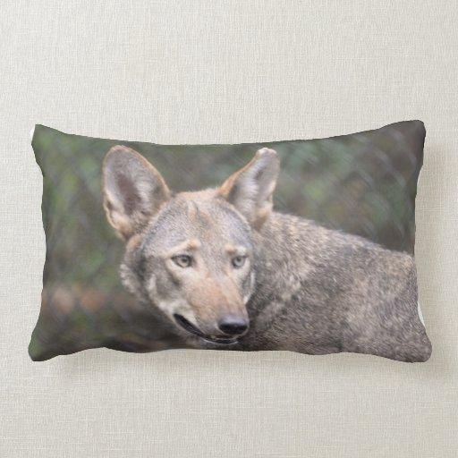 Western Wolf Throw Pillow
