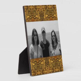 Western wood pattern photoframe display plaques