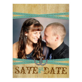 Western & Wood Save the Date Postcard