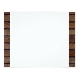 "Western Wood Shabby Lace Thank You 4.25"" X 5.5"" Invitation Card"