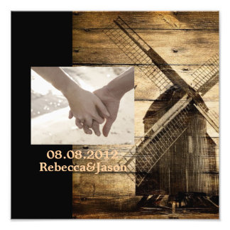 western woodgrain windmill country anniversary photographic print