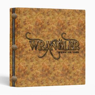 Western Wrangler Recipes Cookbook Binder