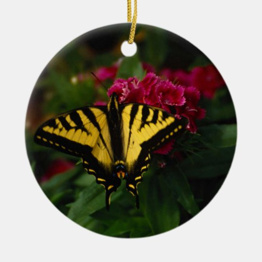 Western Yellow Swallowtail Ceramic Ornament