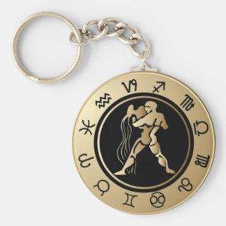 Western Zodiac - Aquarius Keychain