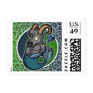 Western Zodiac - Capricorn Stamp (Horizontal)