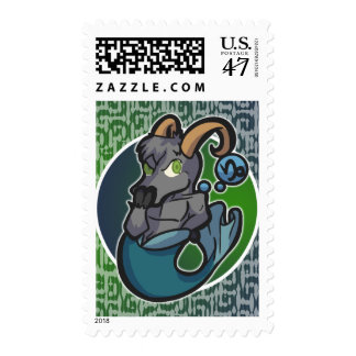 Western Zodiac - Capricorn Stamp (Vertical)