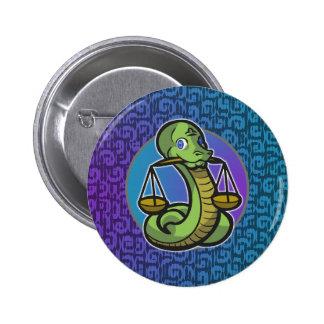 Western Zodiac - Libra Button