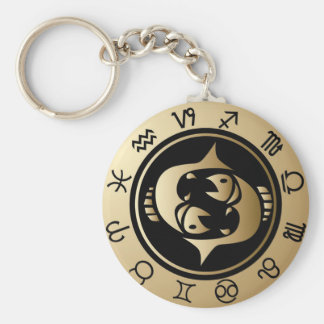 Western Zodiac - Pisces Keychain