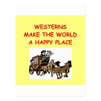 westerns postcard