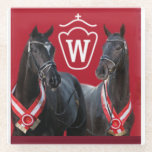 """Westfalen Stallion Coasters<br><div class=""""desc"""">We love our Westfalen horses - celebrate their success with us in this beautiful glass table coaster!</div>"""