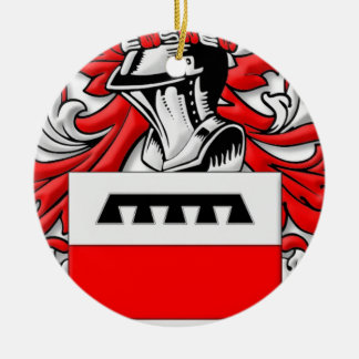 Westfall Coat of Arms Double-Sided Ceramic Round Christmas Ornament